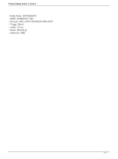 Ebook fisika dasar untuk universitas pdf. Fisika Dasar Edisi 7 Jilid 3 Fisika Dasar Edisi 7 Jilid 3 Diterbitkan Pertama Kali Pada Tahun Pdf Document