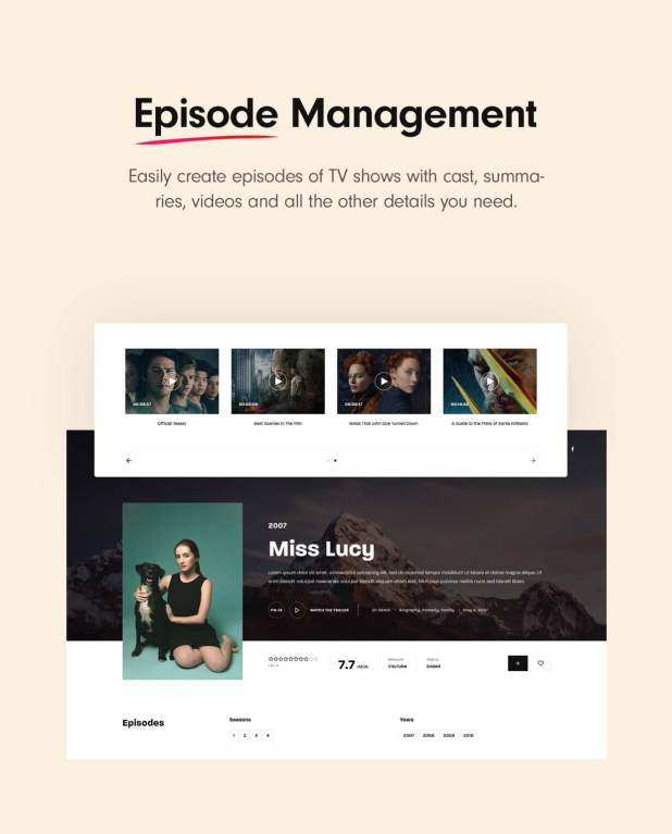 Episode management