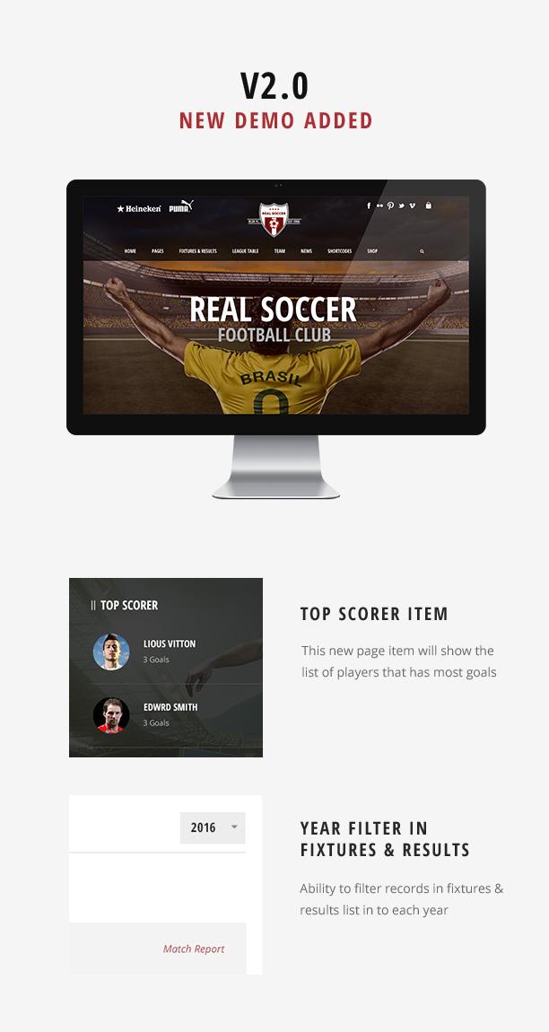Real Soccer - Sport Clubs WordPress - 2