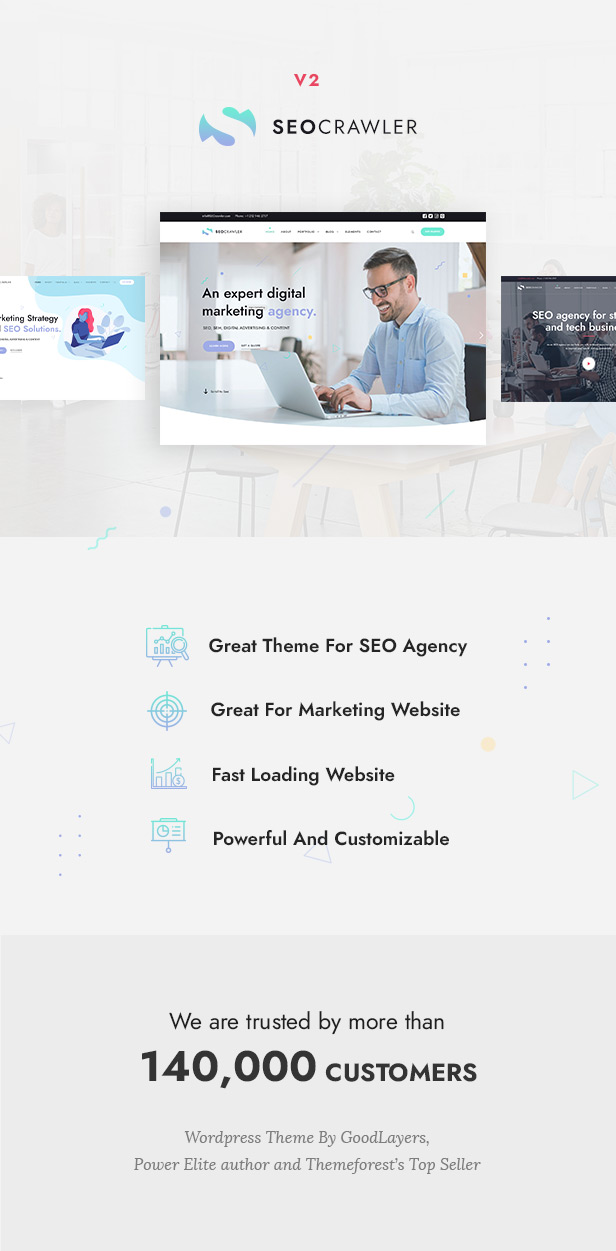SEOCrawler - SEO & Marketing Agency WordPress - 1