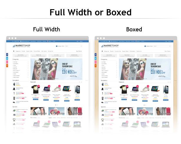 full width boxed design