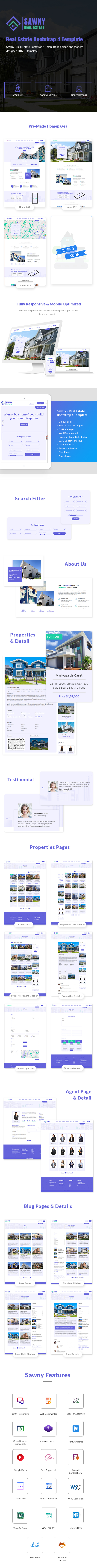 Real Estate Bootstrap 4 Template