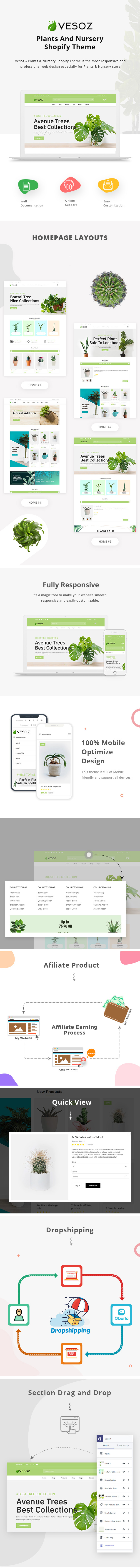 Vesoz - Plants And Nursery Shopify Theme - 1