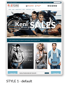 Exemple 2 de boutique en ligne réalisée avec WordPress et le thème premium GoodStore de ThemeForest.
