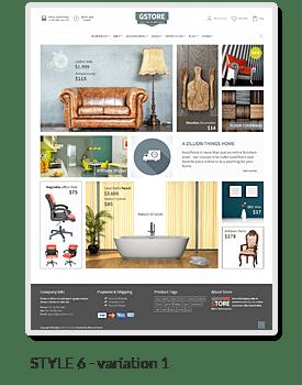 Exemple de boutique en ligne réalisée avec WordPress et le thème premium GoodStore de ThemeForest.