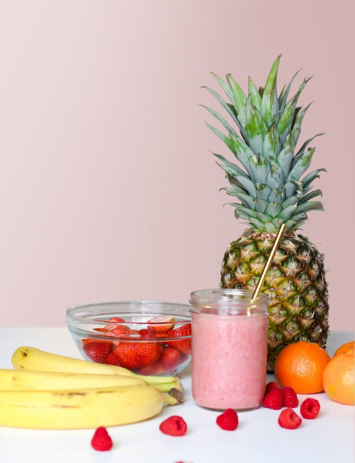 Strawberry and Pineapple Smoothie