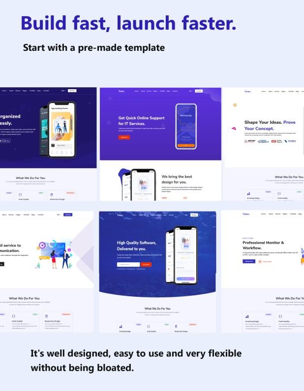 Totan - App Landing Page - 1