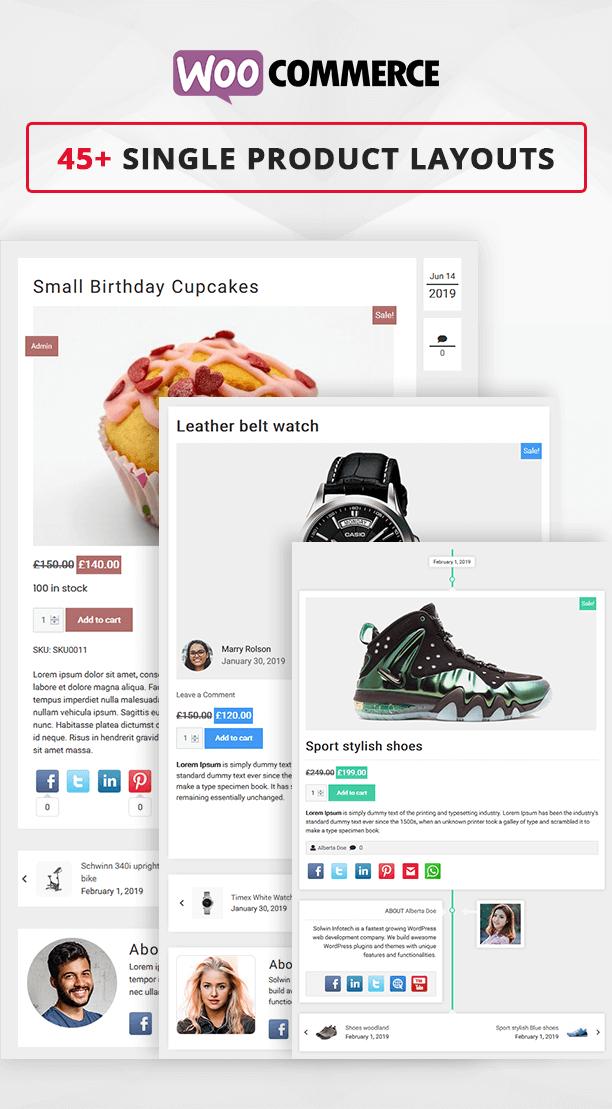 Blog Designer PRO WooCommerce single page