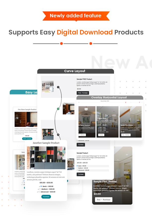 WP Timeline Designer plugin Easy Digital Download support
