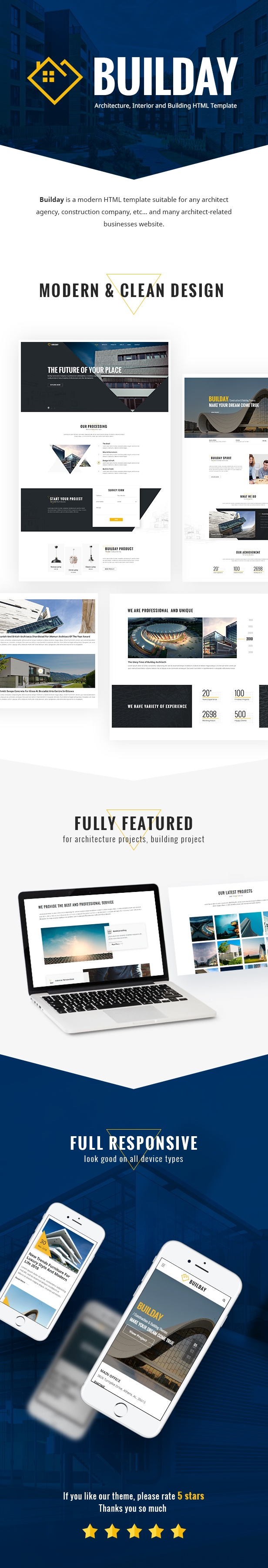 Builday - Modern Architech, Interior And Building HTML Template - 1