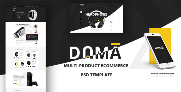 DAMA ? Modern PSD Template for Multi-product eCommerce Webshop