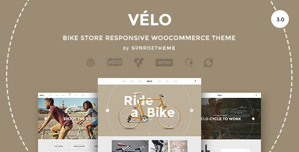 velo bike shop e-commerce theme