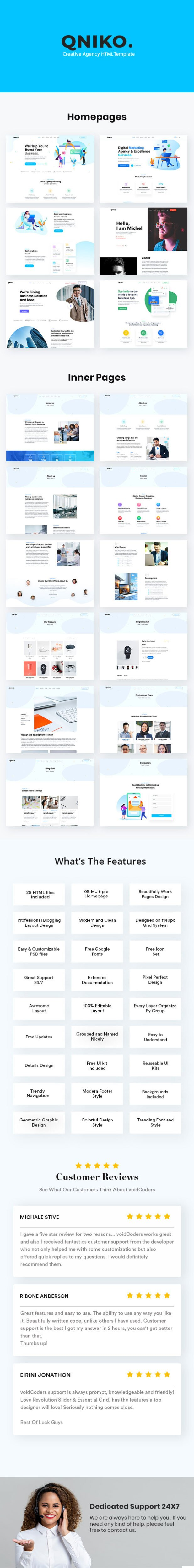 Qniko - Startup Agency HTML5 Template With RTL Support - 1
