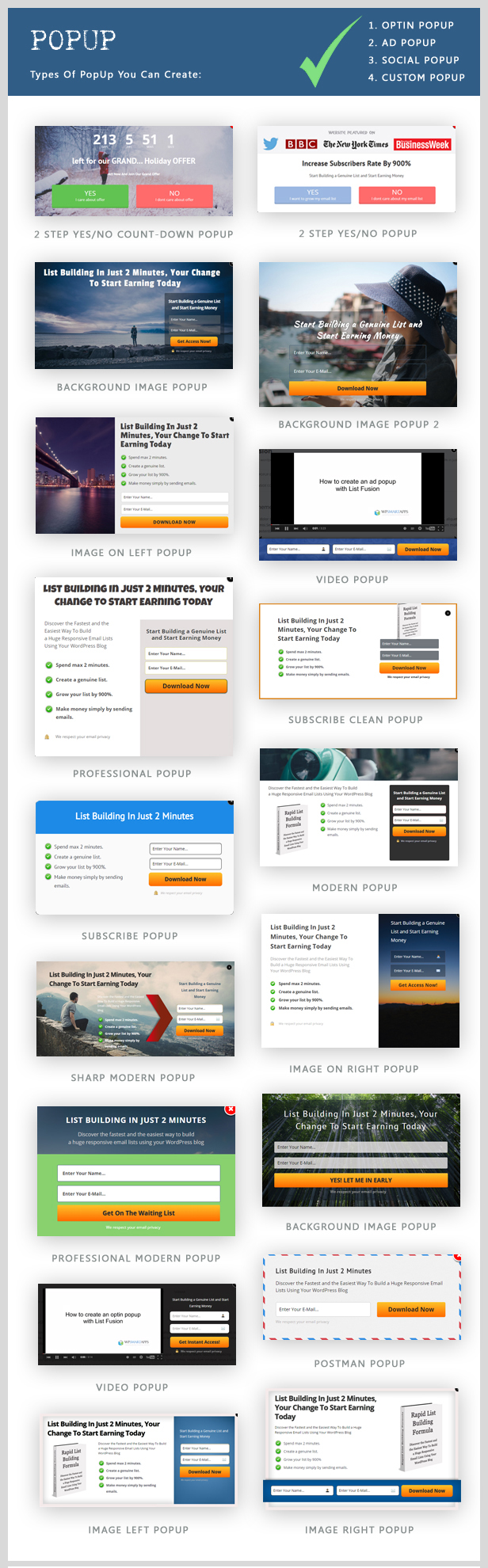 List Fusion - Best PopUp and Lead Generation Plugin - 6