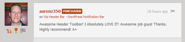 Wp Header Bar - WordPress Notification Bar - 3