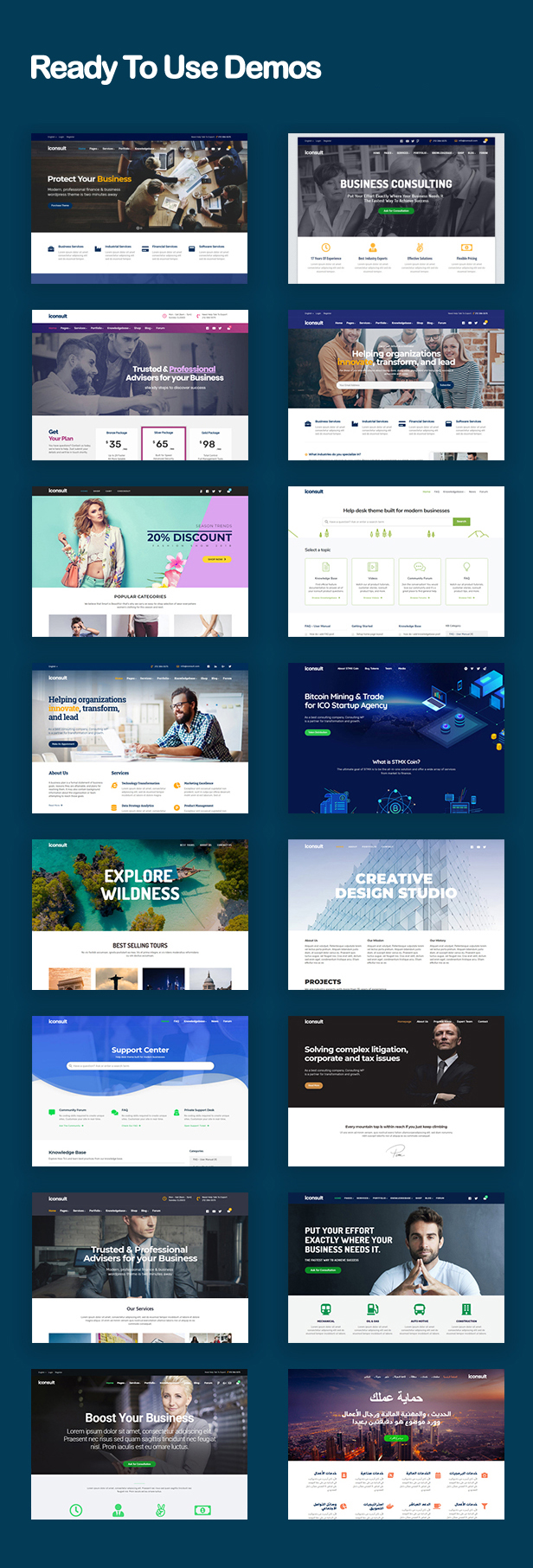 iConsult – Business, Financial Consulting WordPress Theme - 1