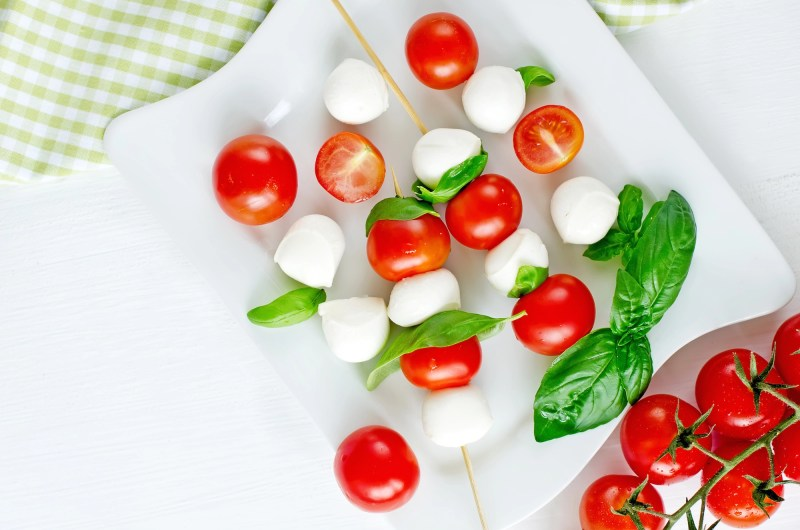Italian appetizer on a white plate