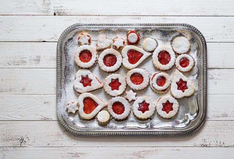 Cinnamon & Orange Jam Linzer Cookies