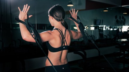 Trainging for health and fitness studio workout gym photographs