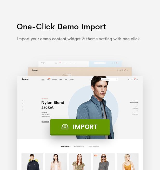 Supro - Minimalist AJAX WooCommerce WordPress Theme - 13