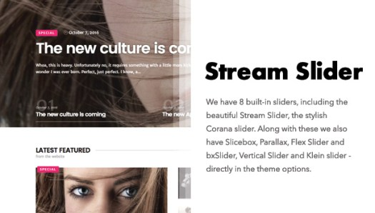 Diginex has stream slider