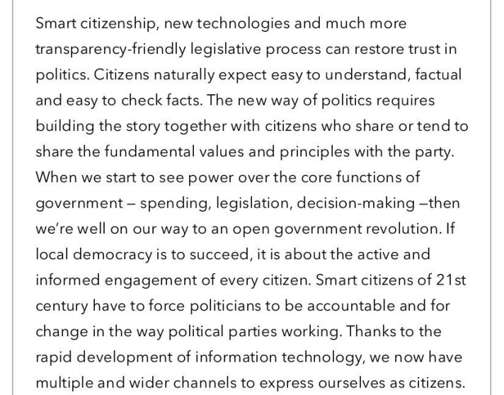 Change the 21st century citizens expect from their democracies