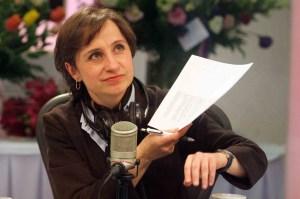 Carmen Aristegui denuncia injusticias.