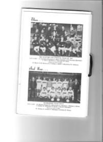 Dumbarton FC Centenary Dinner Menu team pictures