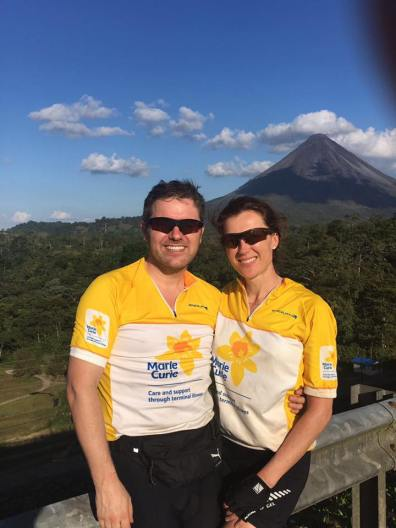 Petra and Tommy complete the mammoth bike ride in Costa Rica