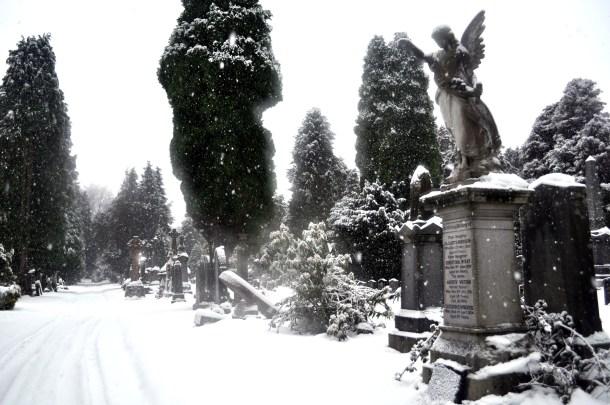 Snow in Dumbarton Cemetery