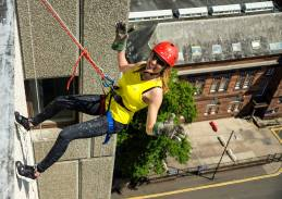 Petra abseiling