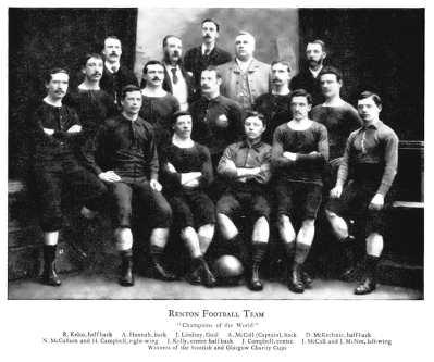 Renton's world cup winning team of 1888