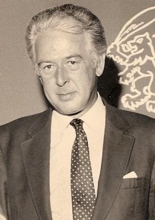 Bill with Anne Dalrymple and Sir Hugh Fraser
