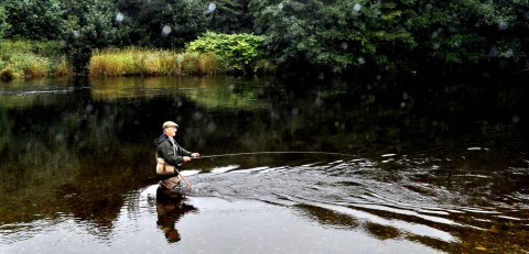Lomond article 2 picture of angler on the River Leven