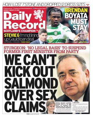 Salmond on Record front page