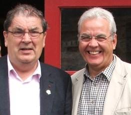 Bill and John Hume in Ballina (2)