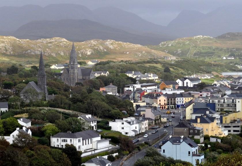 Dan 1 Clifden in Connemara amid the Twelve Bens