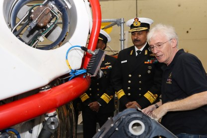 The Indian Submarine Rescue team have visited the NATO Submarine Rescue System (NSRS) based at HMNB Clyde as part of a fact finding visit.