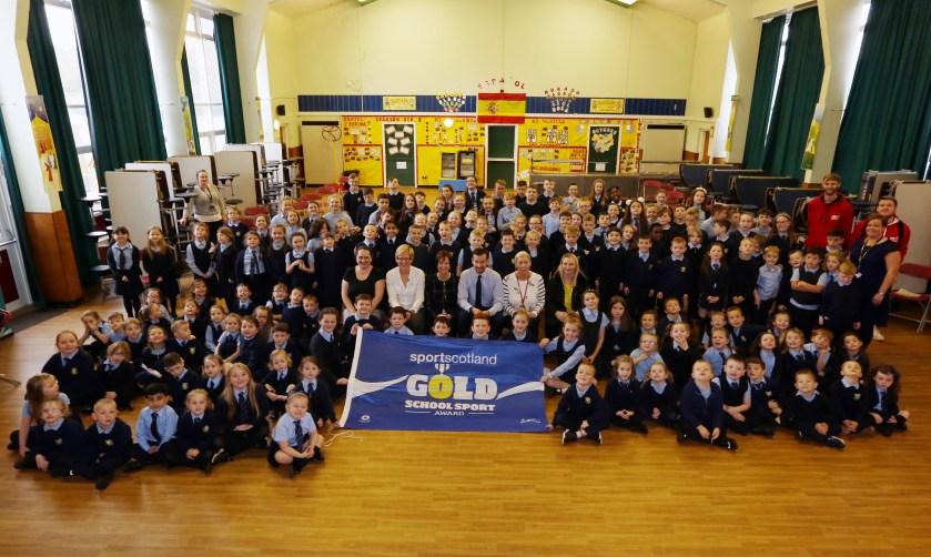 St Josephs Primary Sport Scotland Gold Award