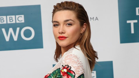 Mandatory Credit: Photo by Joel C Ryan/Invision/AP/REX/Shutterstock (9482899r) Florence Pugh poses for photographs at a screening of King Lear at the Soho Hotel in central London Britain King Lear Screening, London, United Kingdom - 28 Mar 2018