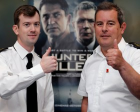 Hunter Killer Advanced Movie screening. Both civilian and Military members of HMNB CLYDE were invited on 18 Oct 2018 to a private advanced screening of Gerard Butlers new film, Hunter killer. The film was greatly received by all that watched within the Warrant officers and senior rates mess.