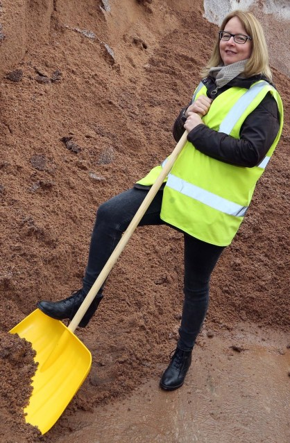 WDC Ready for Winter 2018 PIC SHOWS Council Leader Jonathan McColl and Cllr Marie McNair with the mountain of salt the council have