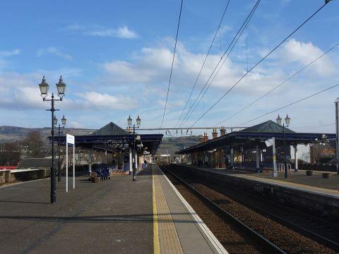 Dumbarton Central Station by Arthur Jones