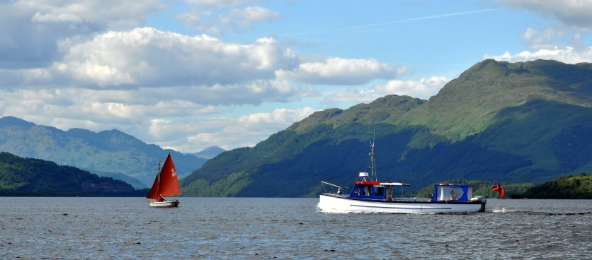Sweeney Loch Lomond view with boats and Ben picture by Bill Heaney