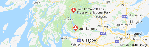 Loch Lomond Natyional Park map