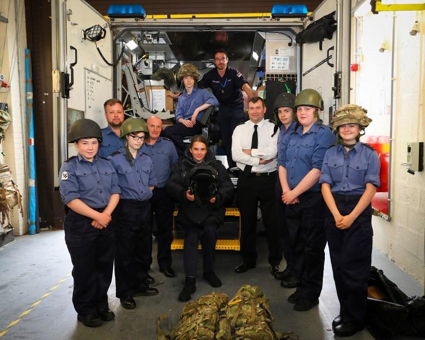 Oban Sea Cadets visit Northern Diving Group (NDG)