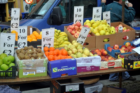 Fresh fruit at Clifden street market
