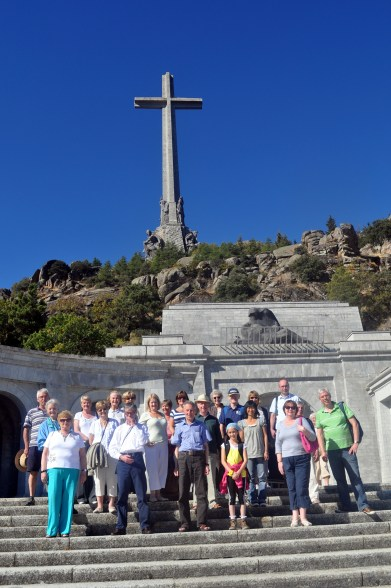 Spain - a group of pilkgrims from Dumbarton visit the Valley of the Fallen in Spain.