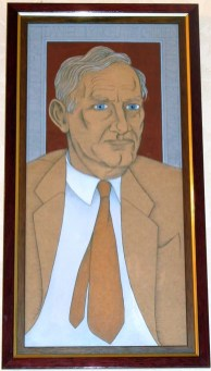 Dan Lynch portrait by Alasdair Gray