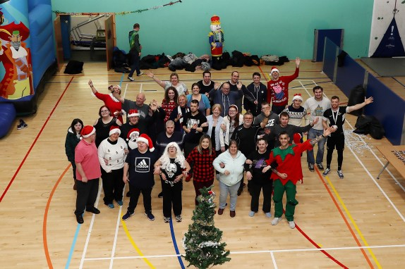 Service personnel and members of Enable Scotland and Key charities were hosted by PTI's at the sportsdrome at HMNB Clyde for the annual It's a knock out Christmas event.